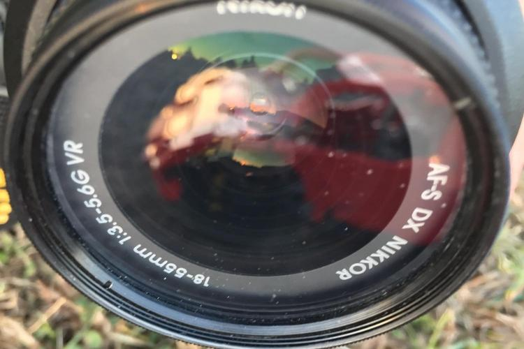 Reflections in camera lens