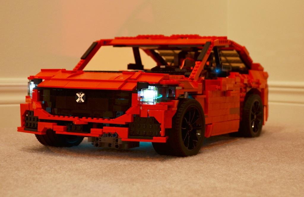 Studio shot of Phantom M with headlights and trim